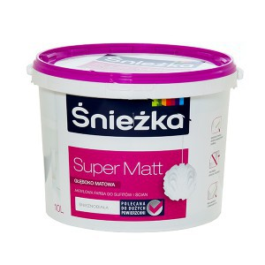 Emulsija SUPER-MATT balta 10 l Sniežka