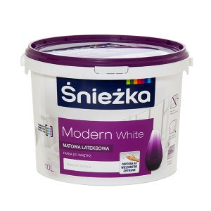 Emulsija SNIEŽKA-MODERN 10 l balta, lateksinė Sniežka