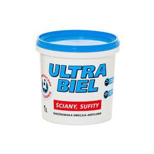Emulsija ULTRA-BIEL 1 l balta Sniežka
