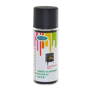 Dažai aerozoliniai karščiui atsparūs SAVEXSPRAY antracito spalvos 400 ml (12)