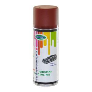 Dažai aerozoliniai gruntiniai SAVEXSPRAY rudi 400 ml (12)