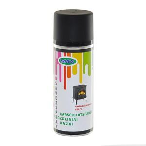 Dažai aerozoliniai karščiui atsparūs SAVEXSPRAY juodi 400 ml (12)