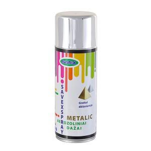 Dažai aerozoliniai metalo efektas SAVEXSPRAY chromo spalvos 400 ml (12)