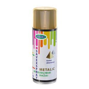 Dažai aerozoliniai metalo efektas SAVEXSPRAY aukso spalvos 400 ml (12)