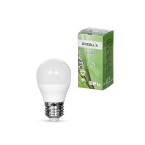 Lemputė LED P45 E27 230V 8W 640LM 3000K gelsva GREELUX (10)