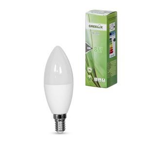 Lemputė LED C37 E14 230V 8W 640LM 3000K gelsva GREELUX (10)