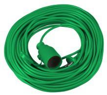 Удлинитель 10м зеленый (2х1,0)