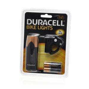 Priekinė dviračio lempa 3led 2xAA 9.8x3.5x3.5 cm Duracell 088462000912  stb