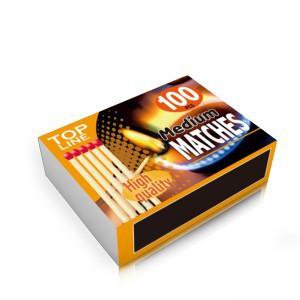 Degtukai vidutiniai 4 dėž. po 100 vnt. TOP LINE 871125229393 Indija