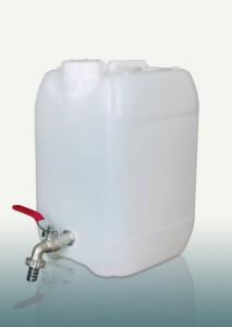 Kanistras vandeniui plastikinis 10 l su kranu