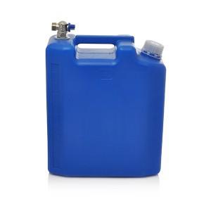 Kanistras vandeniui plastikinis mėlynas 10 l su kranu