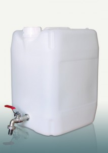 Kanistras vandeniui plastikinis 20 l su kranu