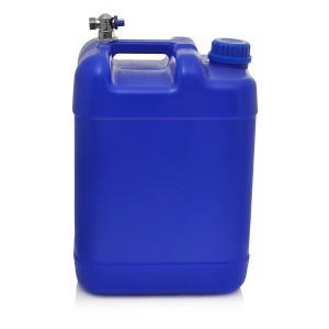 Kanistras vandeniui plastikinis mėlynas 20 l su kranu