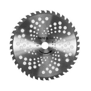 Diskas trimeriui TCT 40T 25.4*255 mm YT-85150 YATO