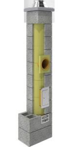 Kamino sistema 5 m su 2 ventiliacinėm angom UNI 36 FI 200 PK2W KONEKT