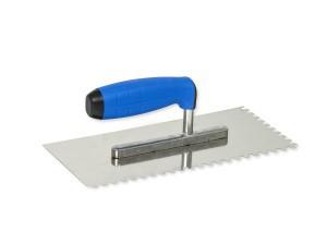 Trintuvė tinkavimui nerūdijančio plieno 130*270 mm 6*6 mm su gumuota ranken 7106