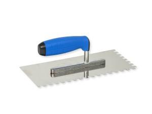 Trintuvė tinkavimui nerūdijančio plieno 130*270 mm 8*8 mm su gum. rank7108