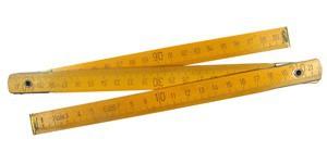 Метр складной деревянный 1м