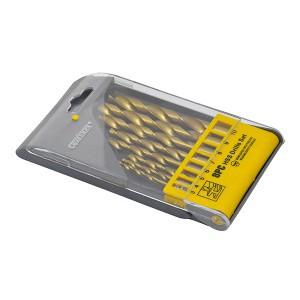 Grąžtai metalui HSS titaniniai 8 vnt. 3.0-10 mm 0130018 Crownman (10)