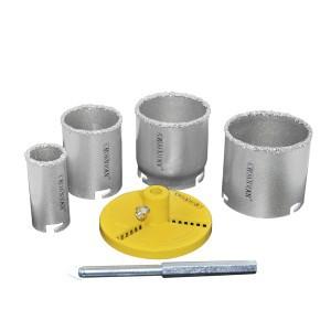 Grąžtai plytelėms karūniniai volfr.6 vnt. 33-53-67-73 mm 0160806 Crownman (1)
