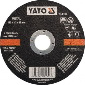 METAL CUTTING DISC 125x3,2x22