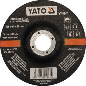 Diskas nerūdijančio plieno šlifavimui125*6.8*22 mm YT-5947 YATO