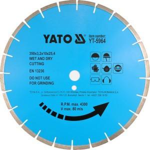 Diskas akmens pjovimo 450*3.8*25.4 mm YT-5966  YATO išp.
