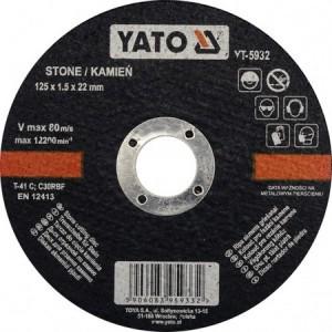 Diskas akmens pjovimo 125*1.5*22 mm YT-5932  YATO