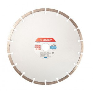 Diskas akmens pjovimo deimantinis segmentinis 230 mm ZUBR TURBO HR16355