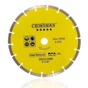Diskas deimantinis segmentinis 5 žvaigžd. 230 mm 0854630 Crownman (1)