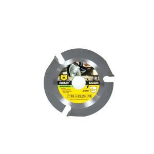 Diskas medžiui, gipskartoniui, plastikui GRAFF 115*3.8*2.2*22.23 1053042