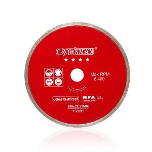 Diskas deimantinis pilnas 4 žvaigžd. 180 mm 0853980 Crownman (25) min500