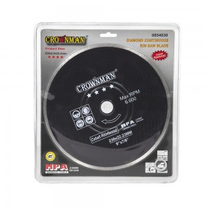 Diskas deimantinis pilnas 4 žvaigžd. 230 mm 0854030 Crownman (1)