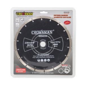 Diskas deimantinis segmentinis 4 žvaigžd. 230 mm 0854230 Crownman (1)