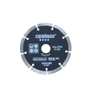 Diskas deimantinis segmentinis 4 žvaigžd. 125 mm 0854125 Crownman (50)