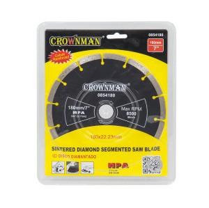 Diskas deimantinis segmentinis 4 žvaigžd. 180 mm 0854180 Crownman (25)