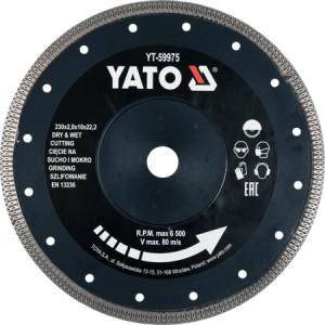 Diskas deimantinis keramikai 230 mm YT-59975 YATO