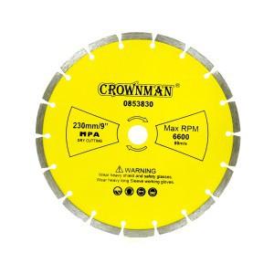 Diskas deimantinis segmentinis 3 žvaigžd. 230 mm 0853830 Crownman (1)