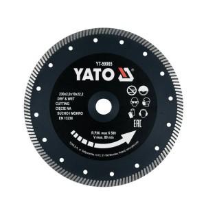 Diskas deimantinis turbo plytelėms 230 mm YT-59985 YATO