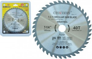Diskas medžio pjovimo 185 mm 40 dantų PROFI 0861111 Crownman (25)