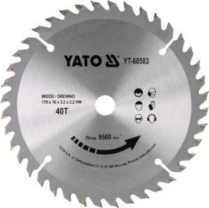 Diskas medžio pjovimo 170*40T*16 mm YT-60583 YATO