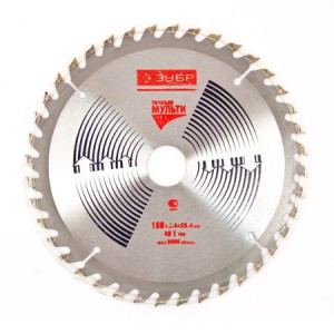 Diskas medžio pjovimo 180 mm 40 dantų ZUBR YM599 HR16350