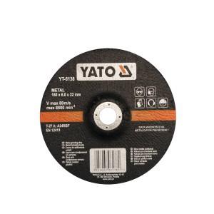 Diskas metalo šlifavimo 180*6.8*22 mm YT-6138 YATO