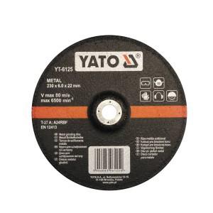 Diskas metalo šlifavimo 230*6.0*22 mm YT-6125 YATO