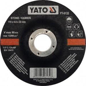 Diskas akmens šlifavimo 115*6.0*22 mm YT-6132  YATO