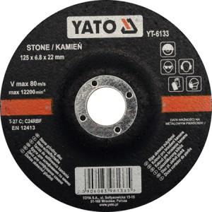 Diskas akmens šlifavimo 125*6.8*22 mm YT-6133 YATO