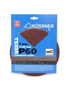 Diskeliai šlifavimo be skylučių TS38R 125 mm P60 5 vnt. 1050-381206 (10)