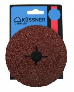 Diskeliai šlifavimo be skylučių fibrinis KF56 125 mm P120 3 vnt. 1058-550120 (10