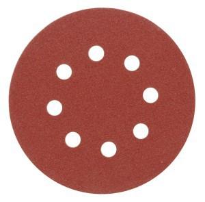 Diskeliai šlifavimo popieriaus su skylutėmis 125 mm P100 5 vnt. 08580 Vorel