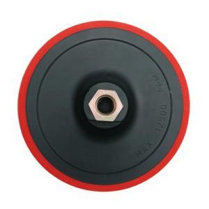 Padas poliravimo guminis lipnus 125 mm su varžtu M14  08318